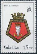 Gibraltar 1982 Royal Navy Crests 1st Group b