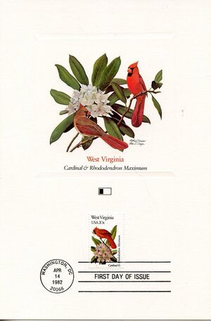 United States of America 1982 State birds and flowers FOLf3