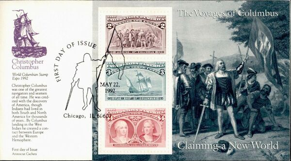 United States of America 1992 Voyages of Columbus FDCb