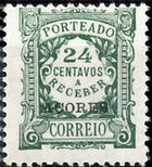 Azores 1922 Postage Due Stamps of Portugal Overprinted (1st Group) b