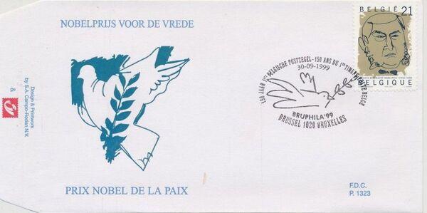 Belgium 1999 Nobel Prize Winners FDCb