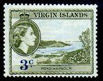 British Virgin Islands 1956 Queen Elizabeth II and Views d