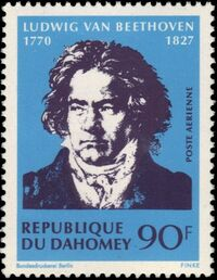 Dahomey 1970 200th Anniversary of the Birth of Ludwig van Beethoven a