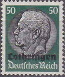 German Occupation-Lothringen 1940 Stamps of Germany (1933-1936) Overprinted in Black m