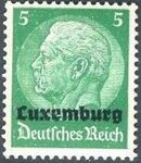 German Occupation-Luxembourg 1940 Stamps of Germany (1933-1936) Overprinted in Black c