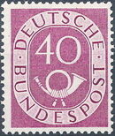 Germany, Federal Republic 1951 Posthorn and Numbers k