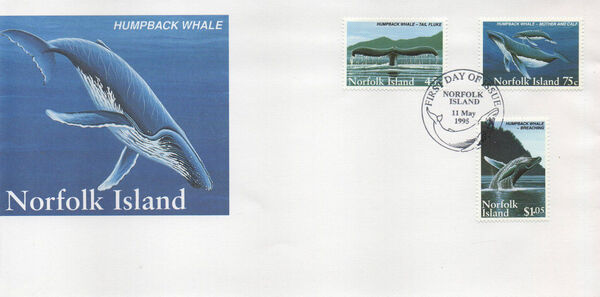 Norfolk Island 1995 Humpback Whale Conservation FDCa