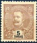 Portuguese India 1903 D. Carlos I - New Colours and Values j