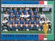 Sierra Leone 1990 Football World Cup in Italy w