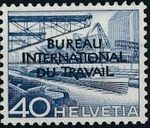 Switzerland 1950 Landscapes and Technology Official Stamps for The International Labor Bureau h