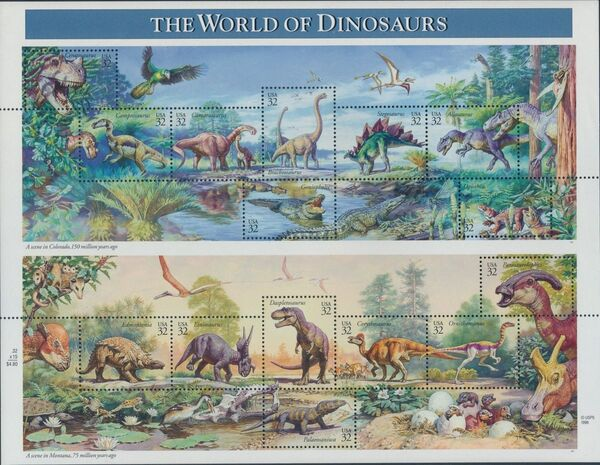 United States of America 1997 The World of Dinosaurs Sa