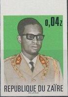 Zaire 1973 President Joseph Desiré Mobutu j