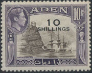 Aden 1951 King George VI Pictorials with New Values k
