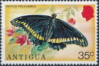 Antigua 1975 Butterflies f