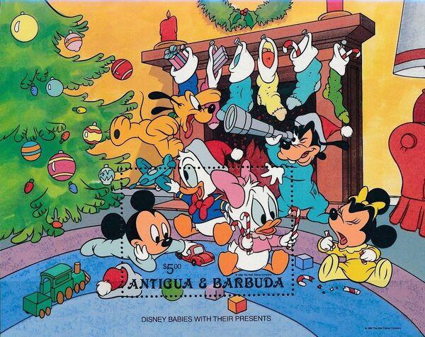 Antigua and Barbuda 1986 Christmas - Walt Disney Babies l