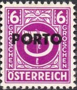 Austria 1946 Occupation Stamps of the Allied Military Government Overprinted in Black c