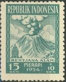 Indonesia 1954 Surtax for Victims of the Merapi Volcano Eruption a
