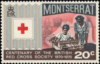 Montserrat 1970 Centenary of British Red Cross Society d