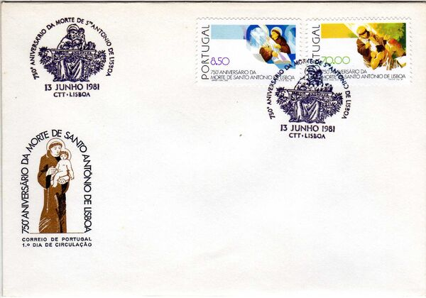 Portugal 1981 750th Anniversary of Death of St. Anthony of Lisbon l