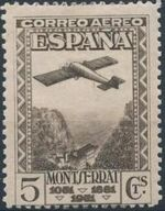 Spain 1931 Plane over Montserrat Pass a