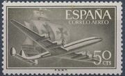 Spain 1956 Plane and Caravel (2nd Group) b