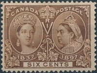 Canada 1897 60th Year of Queen Victoria's Reign f
