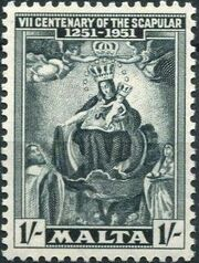 Malta 1951 700th Anniversary of the Scapular c