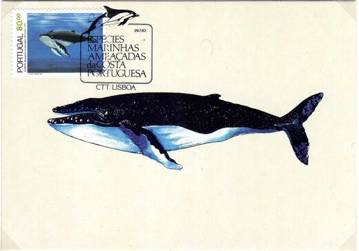 Portugal 1983 Brasiliana 83 - International Stamp Exhibition - Marine Mammals j