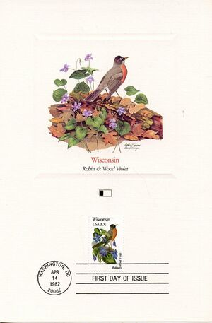 United States of America 1982 State birds and flowers FOLf4