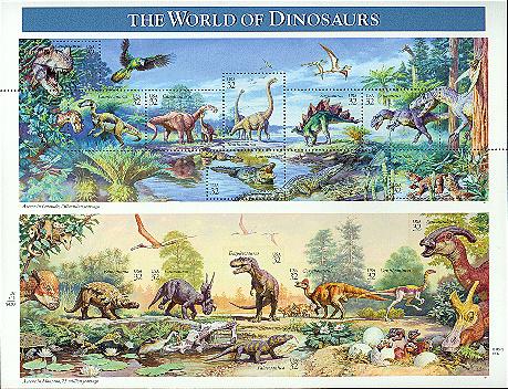United States of America 1997 The World of Dinosaurs Sb