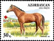 Azerbaijan 1997 Red Cross - Horses b
