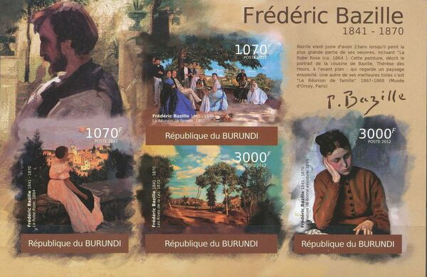 Burundi 2012 Paintings by Frederic Bazille l