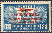 New Caledonia 1933 Definitives of 1928 Overprinted t