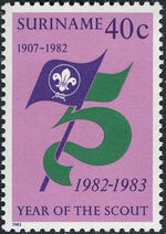 Surinam 1983 75 Years Of Scouting a