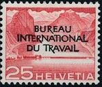 Switzerland 1950 Landscapes and Technology Official Stamps for The International Labor Bureau e