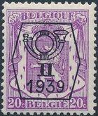 Belgium 1939 Coat of Arms - Precancel (2nd Group) b