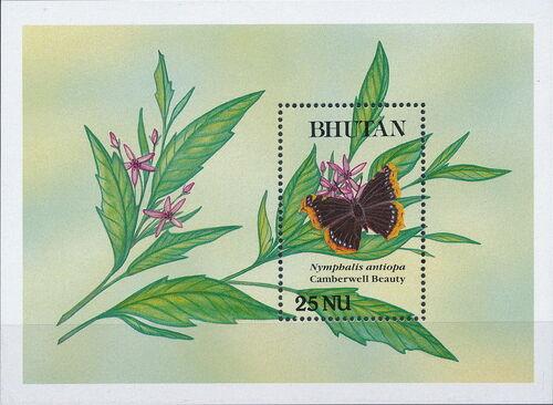 Bhutan 1990 Butterflies x