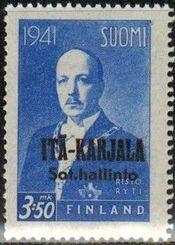 Eastern Karelia 1942 President Ryti Overprinted e
