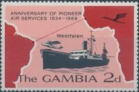 Gambia 1969 35th Anniversary of Pioneer Air Services a