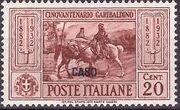 Italy (Aegean Islands)-Caso 1932 50th Anniversary of the Death of Giuseppe Garibaldi b