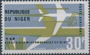 Niger 1966 Inauguration of DC-8F Air Services a