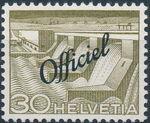 Switzerland 1950 Engineering - Switzerland Postage Stamps of 1949 Overprinted Officiel f