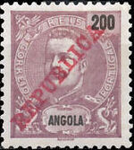 Angola 1911 D. Carlos I Overprinted l