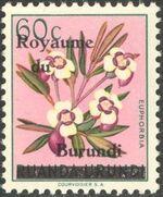 Burundi 1962 Flower Issue of Ruanda-Urundi Overprinted c