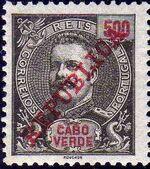 Cape Verde 1911 D. Carlos I Overprinted n