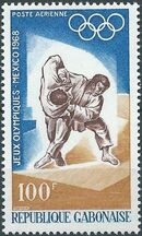 Gabon 1968 19th Summer Olympic Games Mexico City c