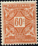 Mauritania 1914 Postage Due Stamps g