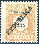 St Thomas and Prince 1913 Postage Due Stamps - 2nd Overprint d