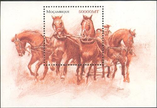 Mozambique 2002 The Wonderful World of Horses SSa