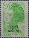 St Pierre et Miquelon 1986 Liberty from France Overprinted ST-PIERRE ET MIQUELON i